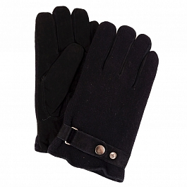 Перчатки муж ONI gloves N1 6Ф 565 01 велюр/флис/трикотаж черн (10)