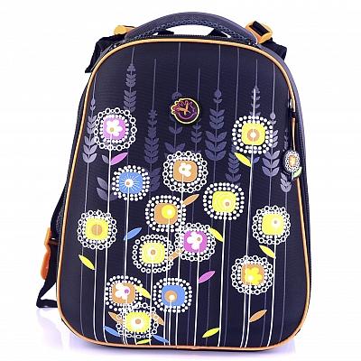 dc7f415cdee6 Ранец школьный для девочки черный — купить в интернет-магазине «Мир ...
