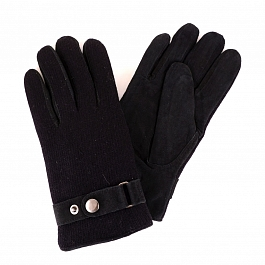 Перчатки муж ONI gloves N1 6Ф 565 01 велюр/флис/трикотаж черн р.8